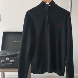 Polo Ralph Lauren Black 1/4 Zip Pullover